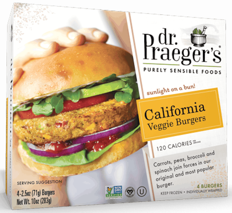 $0.50 for Dr. Praeger's® Veggie Burgers (expiring on Saturday, 12/28/2019). Offer available at multiple stores.