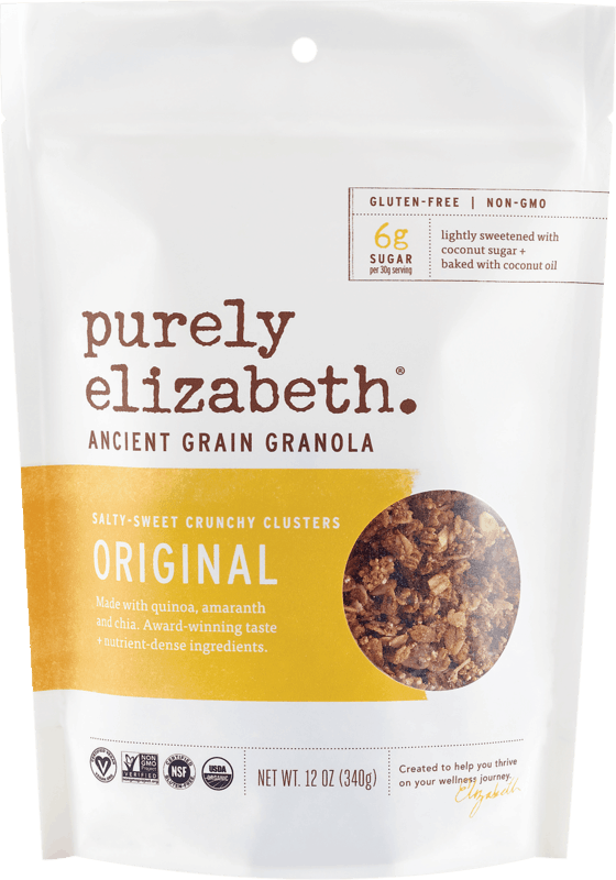 $1.25 for Purely Elizabeth® Granola. Offer available at multiple stores.