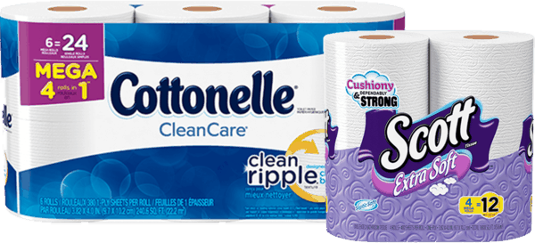 $4.00 for Cottonelle® OR Scott® Mega Roll Toilet Paper (expiring on Tuesday, 10/31/2017). Offer available at Walgreens.