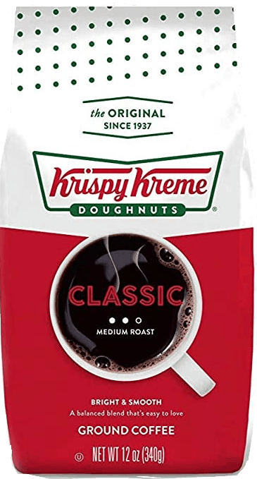 $1.50 for Krispy Kreme Classic Bagged Coffee (expiring on Friday, 12/25/2020). Offer available at multiple stores.