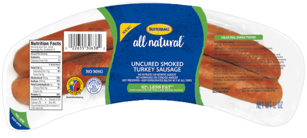 $0.75 for Butterball® All Natural Uncured Smoked Turkey Sausage (expiring on Monday, 04/01/2019). Offer available at Safeway, Lowes Foods, Shoppers Food, Albertsons, Marc's.