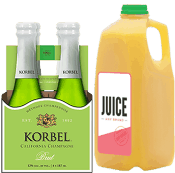 $3.00 for KORBEL® & Any Brand Juice. Offer available at multiple stores.