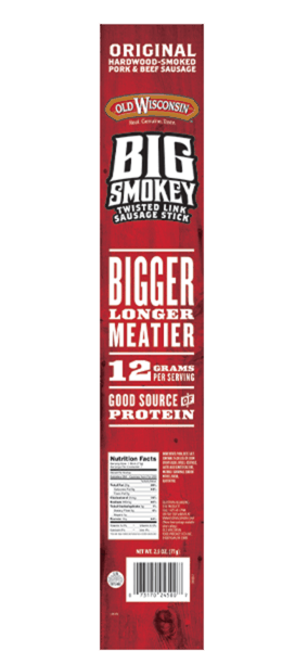 $1.00 for Old Wisconsin Big Smokey Twisted Link Sausage Stick (expiring on Sunday, 09/02/2018). Offer available at multiple stores.