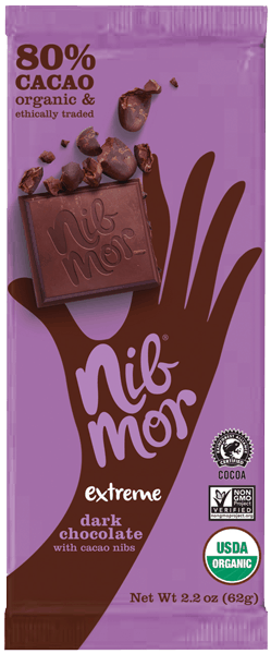 $0.75 for NibMor® Organic Chocolate Bar (expiring on Monday, 12/25/2017). Offer available at multiple stores.