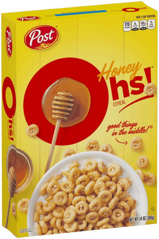 $0.25 for Post Honey Graham Oh's Cereal (expiring on Sunday, 08/02/2020). Offer available at multiple stores.
