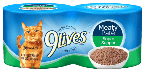 $0.50 for 9Lives® Wet Cat Food (expiring on Monday, 04/02/2018). Offer available at Walmart.