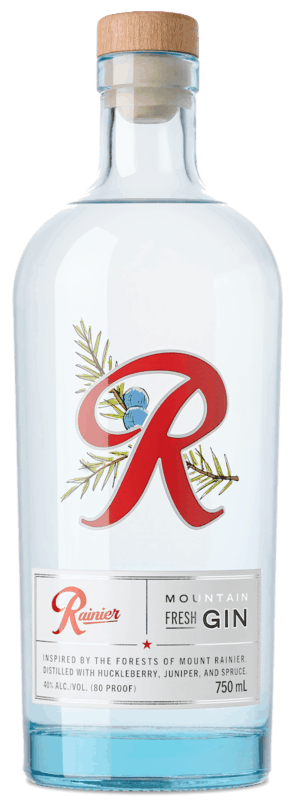 $5.00 for Rainier Gin (expiring on Monday, 02/22/2021). Offer available at multiple stores.