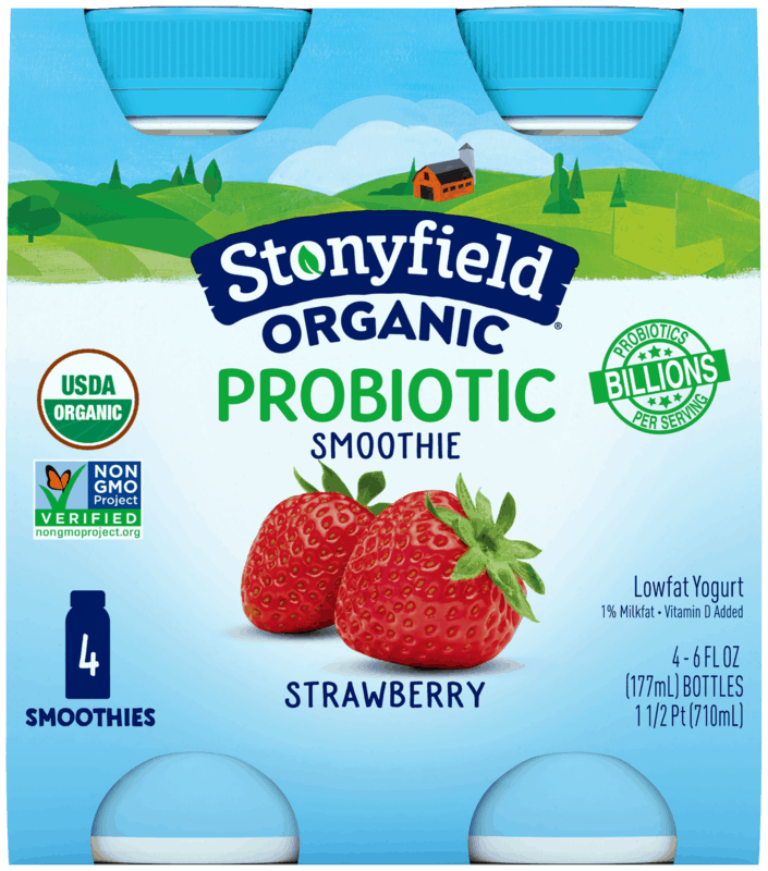 $1.00 for Stonyfield Organic Probiotic Smoothies (expiring on Wednesday, 03/31/2021). Offer available at multiple stores.