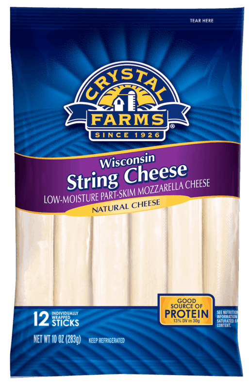 $0.50 for Crystal Farms® Stick & String Cheese (expiring on Monday, 03/02/2020). Offer available at multiple stores.