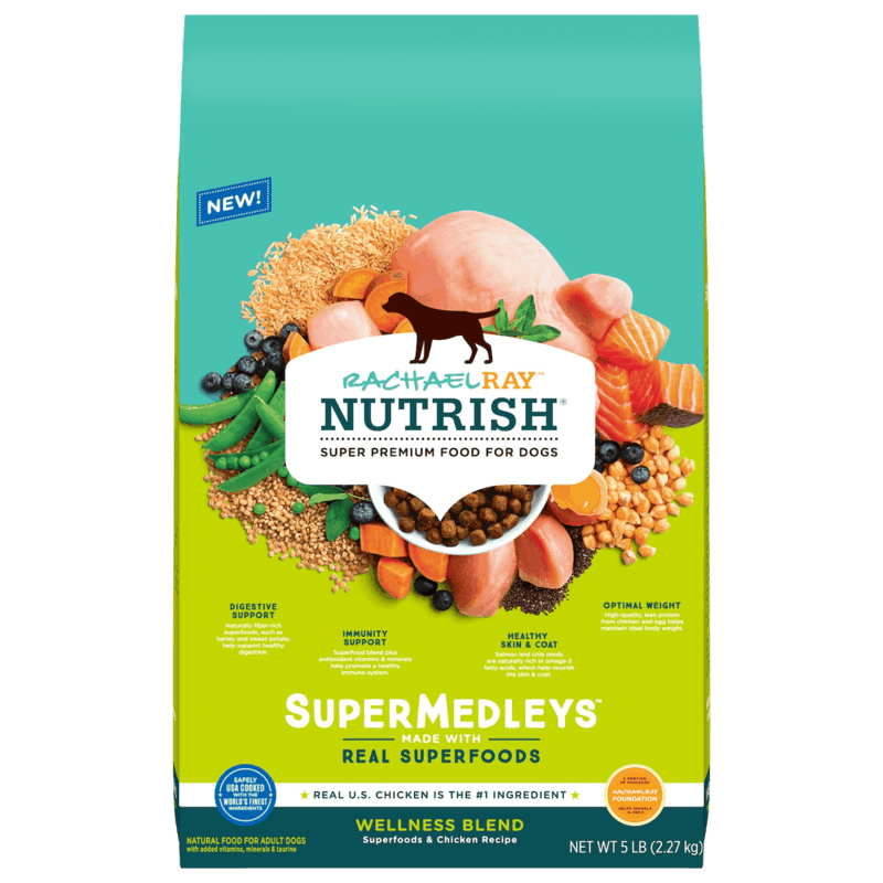 $1.50 for Rachael Ray Nutrish SuperMedleys Dry Dog Food (expiring on Sunday, 04/12/2020). Offer available at multiple stores.