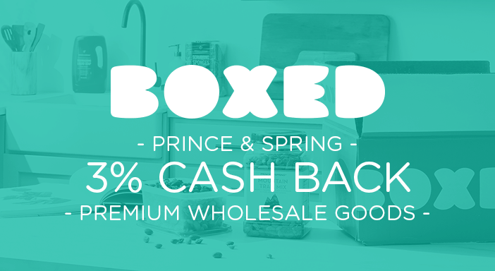 $0.00 for Boxed Prince + Spring (expiring on Tuesday, 03/31/2020). Offer available at Boxed.