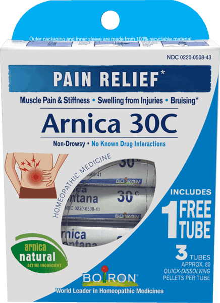 $1.00 for Boiron® Arnica 30C Bonus Care Pack (expiring on Wednesday, 08/31/2022). Offer available at multiple stores.