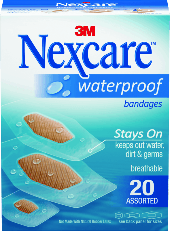 $0.50 for Nexcare™ Waterproof Bandage Products. Offer available at Target, Walmart.