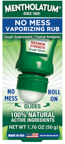 $1.50 for Mentholatum® No Mess Vaporizing Rub (expiring on Monday, 07/02/2018). Offer available at Walmart.