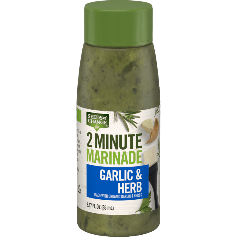 $0.75 for SEEDS of CHANGE™ 2 Minute Marinade (expiring on Thursday, 07/02/2020). Offer available at Walmart.
