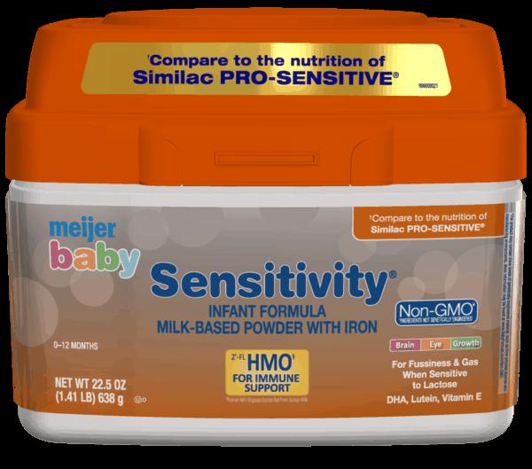 $2.00 for Meijer® Baby Sensitivity Formula (expiring on Thursday, 05/02/2019). Offer available at Meijer.