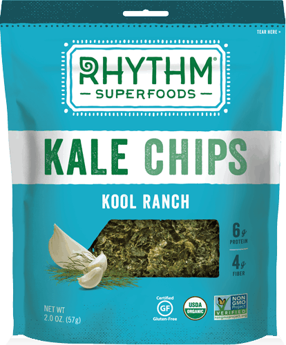 $1.00 for Rhythm Superfoods® Kale Chips. Offer available at multiple stores.