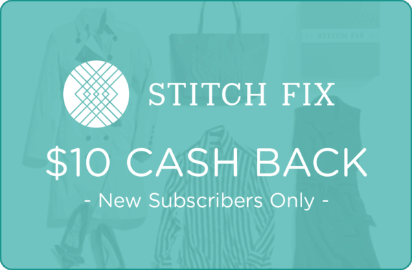 $10.00 for Stitch Fix. Offer available at Stitch Fix.