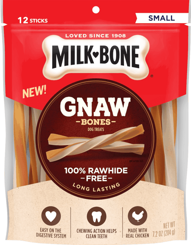 $2.00 for Milk-Bone® GnawBones™ Rawhide Free Treats (expiring on Saturday, 11/02/2019). Offer available at multiple stores.