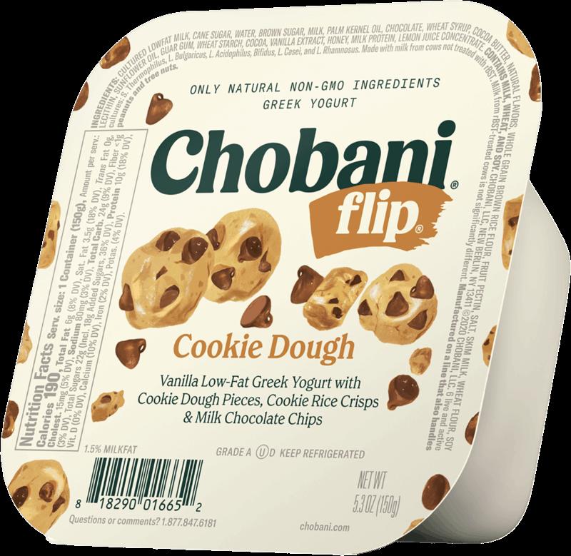 $0.50 for Chobani® Flip® Cookie Dough (expiring on Thursday, 08/05/2021). Offer available at Aldi.
