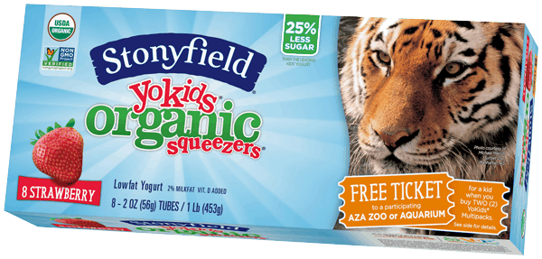 $0.75 for Stonyfield® YoKids® Yogurt Multi-Packs (expiring on Tuesday, 05/30/2017). Offer available at multiple stores.