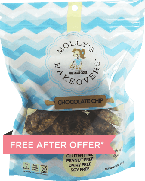 $5.00 for Molly's Bakeovers™ Cookies (expiring on Sunday, 09/02/2018). Offer available at Safeway.