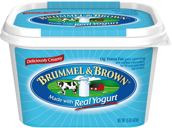 $0.50 for Brummel & Brown® Original (expiring on Thursday, 08/02/2018). Offer available at multiple stores.