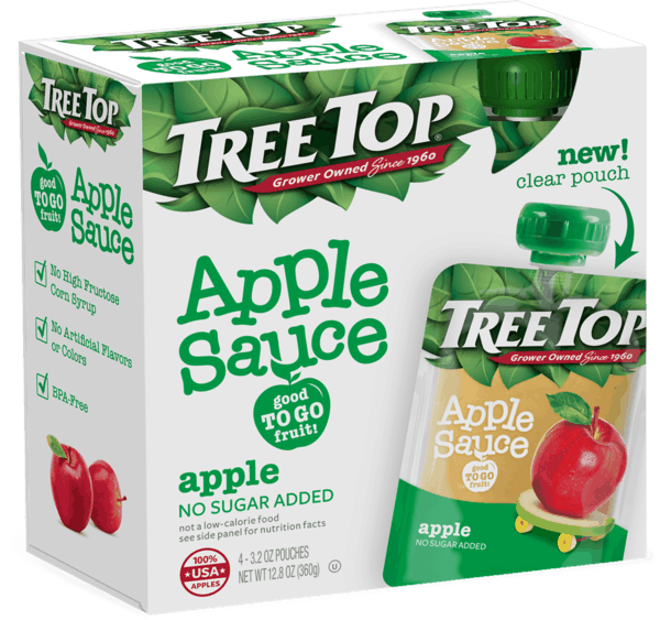 $0.75 for Tree Top® Apple Sauce Pouches 4-pack (expiring on Sunday, 09/02/2018). Offer available at multiple stores.
