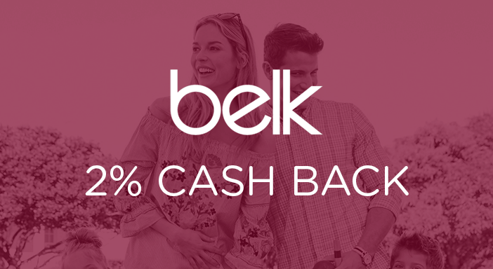 $0.00 for Belk (expiring on Sunday, 01/31/2021). Offer available at Belk.