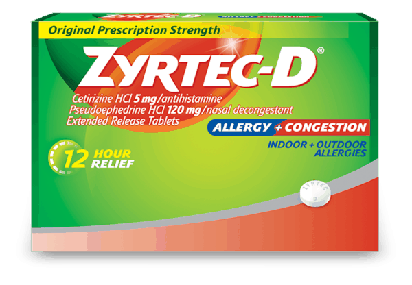 graphic relating to Zyrtec Printable Coupon called $2.00 for ZYRTEC-D®. Provide obtainable at Walmart. - Printable