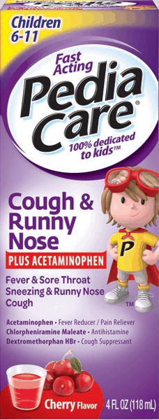 $1.50 for PediaCare™ Cough & Runny Nose (expiring on Sunday, 09/02/2018). Offer available at Walgreens.