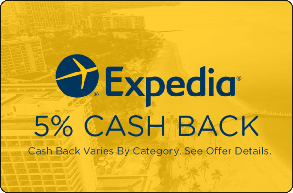 $0.00 for Expedia (expiring on Wednesday, 07/03/2019). Offer available at Expedia.