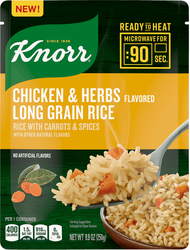 $0.50 for Knorr Ready to Heat Chicken & Herbs Long Grain Rice (expiring on Thursday, 07/02/2020). Offer available at multiple stores.