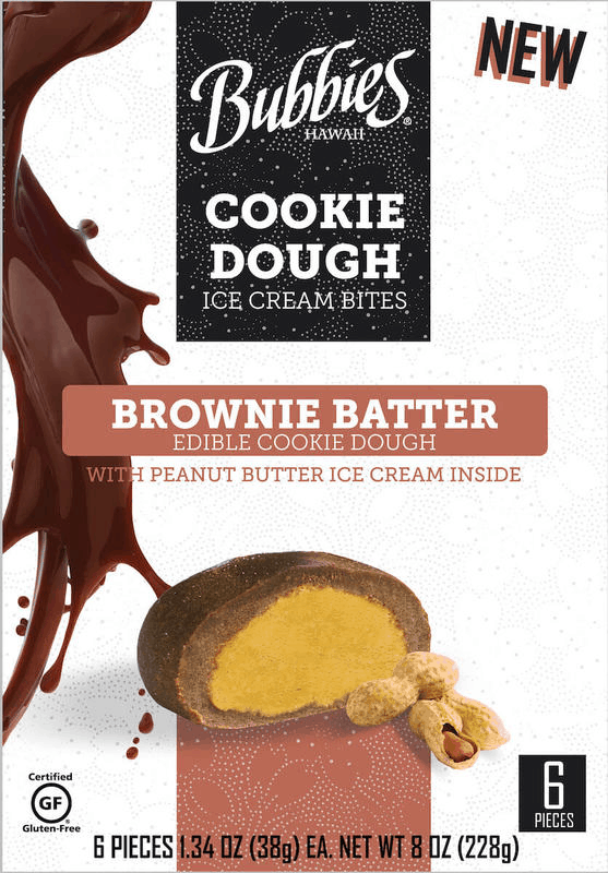 $1.50 for Bubbies Brownie Batter Cookie Dough Ice Cream Bites (expiring on Thursday, 10/01/2020). Offer available at ShopRite.