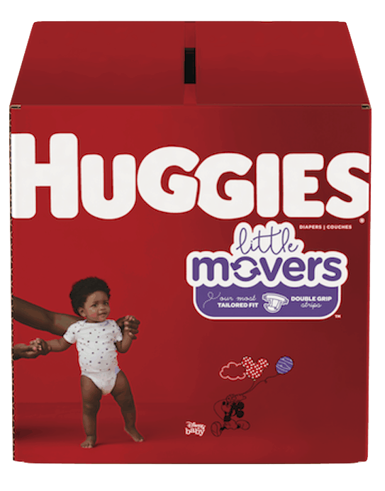 $0.50 for Huggies® Little Movers (expiring on Monday, 12/02/2019). Offer available at Walmart.