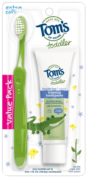 $1.00 for Tom's of Maine® Toddler Toothpaste and Toothbrush Set (expiring on Thursday, 08/02/2018). Offer available at Target.