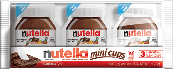 $0.50 for Nutella® Mini Cups (expiring on Tuesday, 10/31/2017). Offer available at Walmart.