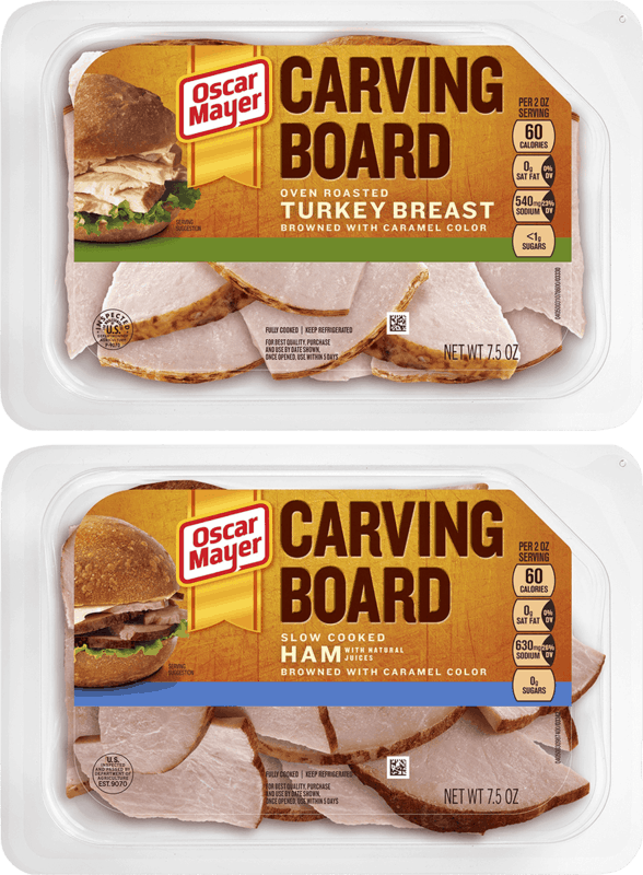 $0.50 for Oscar Mayer Carving Board (expiring on Tuesday, 10/12/2021). Offer available at Walmart, Walmart Pickup & Delivery.
