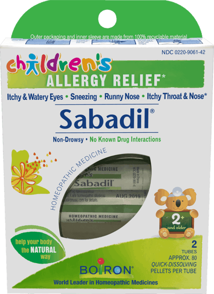$1.00 for Boiron® Children's Sabadil® (expiring on Wednesday, 08/01/2018). Offer available at Whole Foods Market®, Sprouts Farmers Market, Vitamin Shoppe.