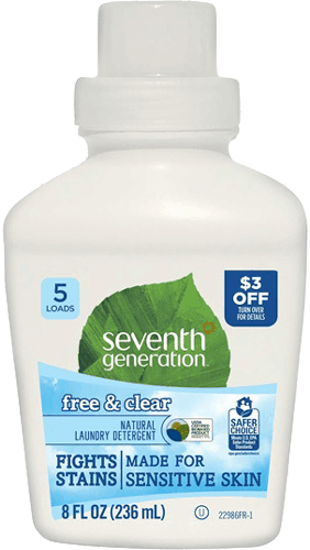 $1.50 for Seventh Generation™ Natural Laundry Detergent (expiring on Wednesday, 05/24/2017). Offer available at Target.