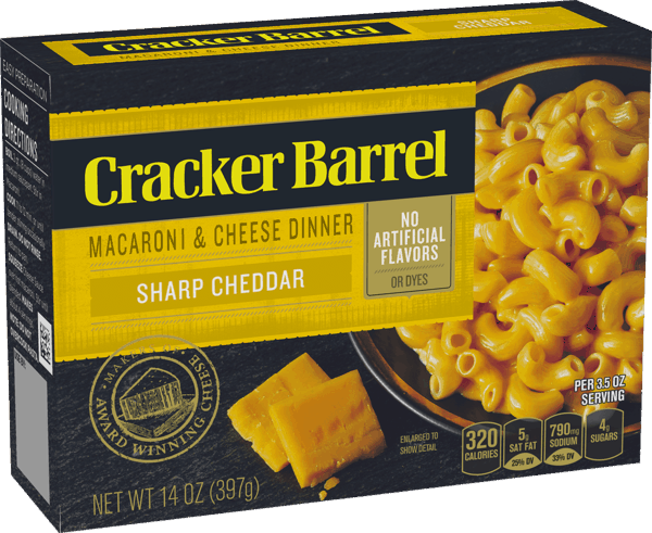 $0.25 for Cracker Barrel™ Macaroni & Cheese (expiring on Sunday, 06/02/2019). Offer available at Walmart.
