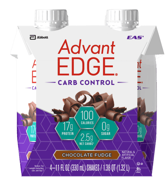 $0.50 for AdvantEDGE® Carb Control Protein Shakes (expiring on Saturday, 10/06/2018). Offer available at Walmart.