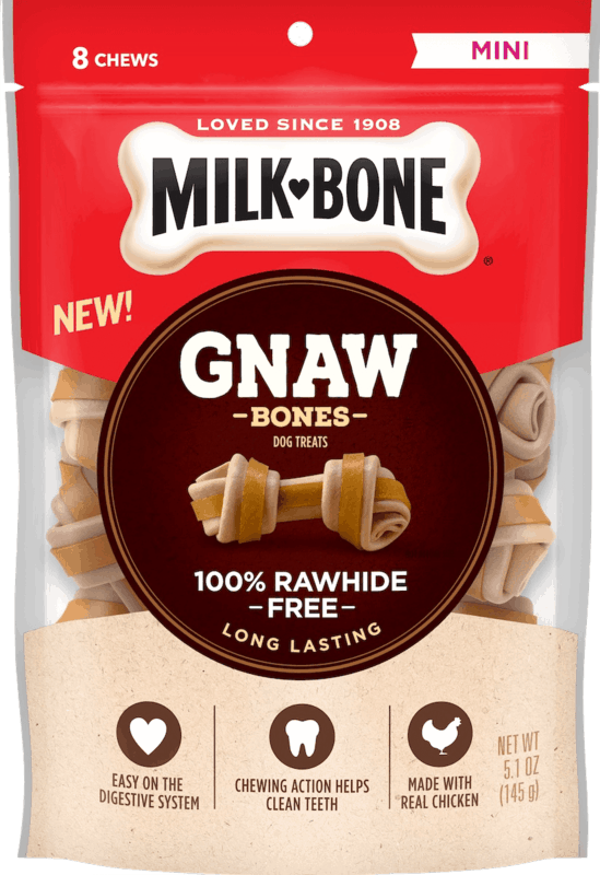 $1.00 for Milk-Bone® GnawBones™ Rawhide Free Treats (expiring on Saturday, 11/02/2019). Offer available at multiple stores.