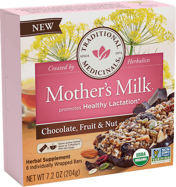 $4.00 for Traditional Medicinals® Mother's Milk® Bars (expiring on Saturday, 11/02/2019). Offer available at Target, Walmart, Sprouts Farmers Market.