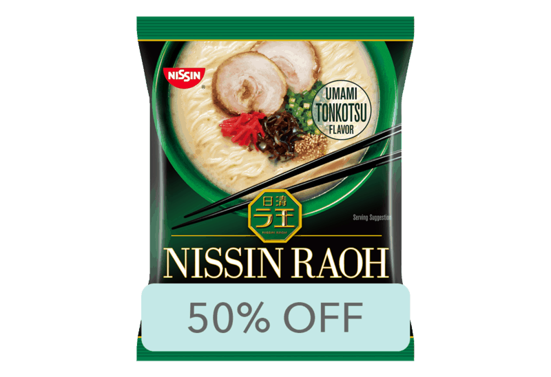 $0.82 for Nissin RAOH (expiring on Wednesday, 07/01/2020). Offer available at Walmart.