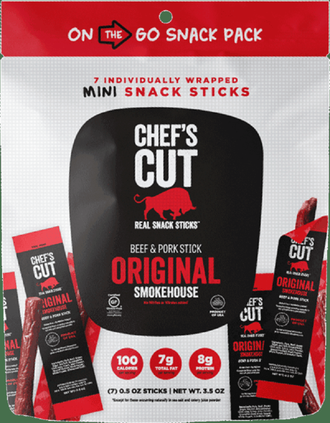 $1.00 for Chef's Cut Real Snack Sticks™: Mini Snack Sticks (expiring on Wednesday, 01/02/2019). Offer available at Safeway, Tom Thumb, Randalls, Albertsons.