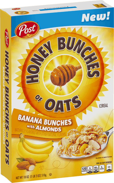 $1.00 for Post® Honey Bunches of Oats® Banana Bunches Cereal (expiring on Tuesday, 04/02/2019). Offer available at Walmart.