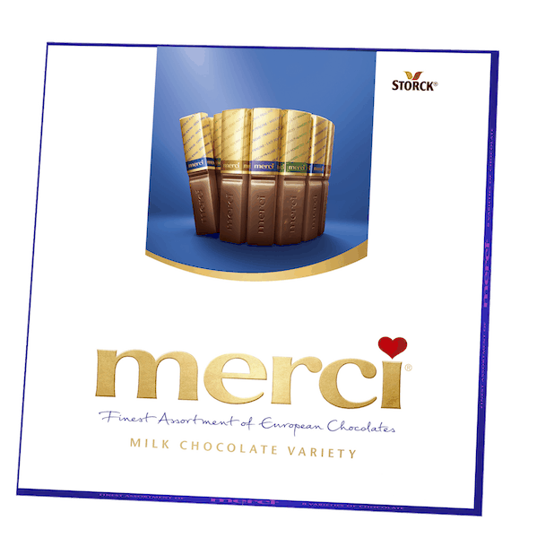 $2.00 for merci® Milk Chocolate (expiring on Friday, 12/07/2018). Offer available at Walmart.
