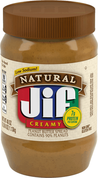 $0.50 for Jif® Natural Peanut Butter Spread. Offer available at multiple stores.