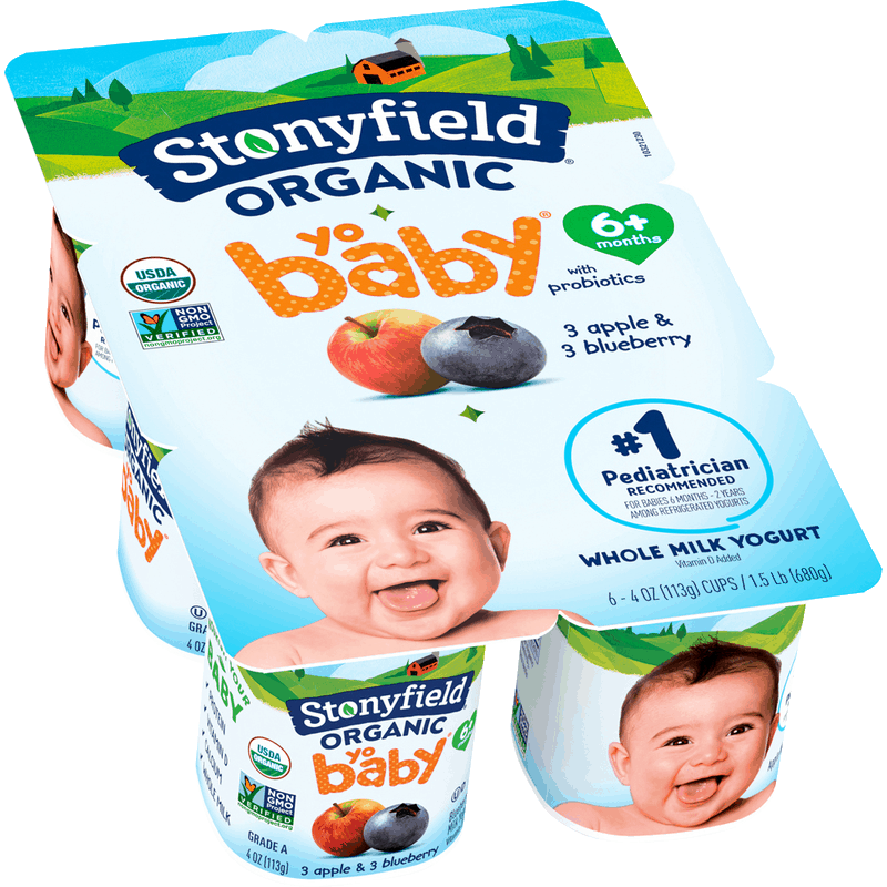 $0.50 for Stonyfield® Organic YoBaby Yogurt Multipacks (expiring on Saturday, 06/13/2020). Offer available at multiple stores.
